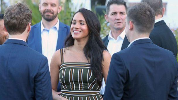 PHOTO: Prince Harry, Duke of Sussex and Meghan, Duchess of Sussex attend a reception for young people, community and civil society leaders at the Residence of the British High Commissioner in Cape Town, South Africa, Sept. 24, 2019. (John Rainford/Cover Images via Newscom)