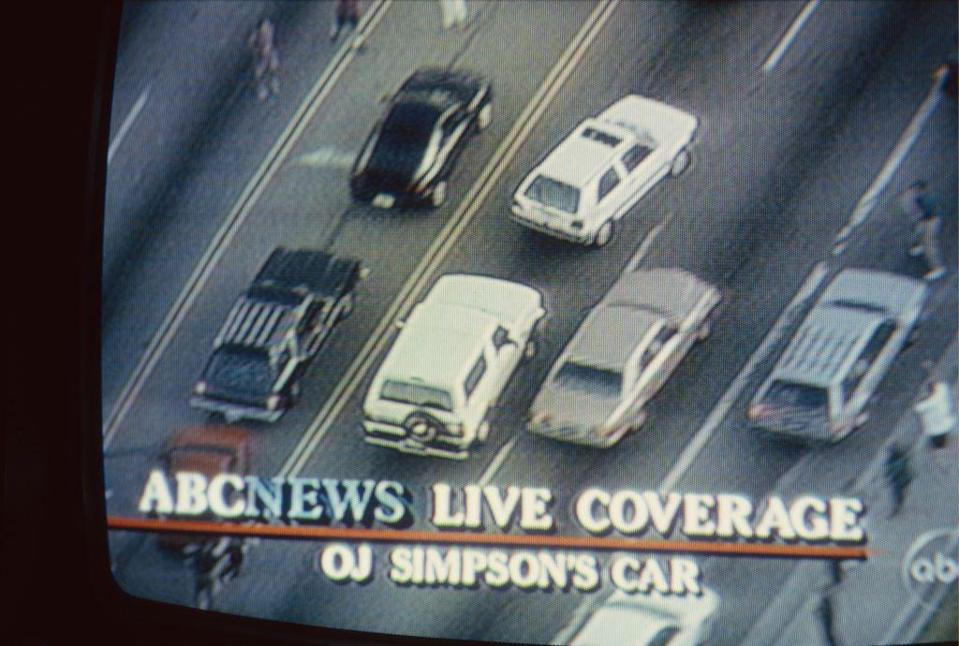 <p>The world stopped to tune in as OJ Simpson fled from the police down a Los Angeles highway in a white Ford Bronco following the death of Ron Goldman and Simpson's ex-wife, Nicole Brown Simpson. </p>