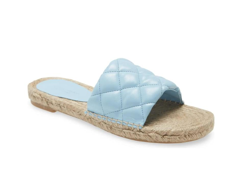 <p>You'll slip right into these <span>Jeffrey Campbell Salvora Espadrille Slide Sandal</span> ($71, originally $95) for weekend shenanigans.</p>