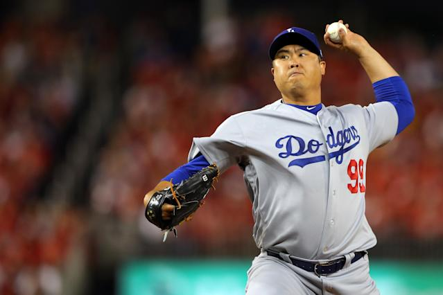 Hyun-Jin Ryu is reportedly Toronto bound. (Alex Trautwig/MLB Photos via Getty Images)