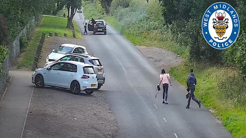 Police released footage of an alleged hit and run