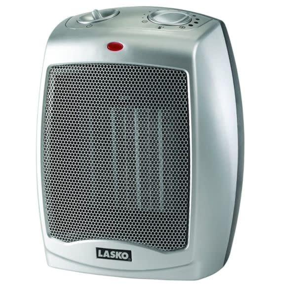 <a href=&quot;https://www.amazon.com/Lasko-754200-Portable-Adjustable-Thermostat/dp/B000TKDQ5C/?tag=huffingtop-20&quot; target=&quot;_blank&quot; rel=&quot;noopener noreferrer&quot;>This electric space heater</a> has three quiet settings and 11 different temperature settings. It has a 4.3-star ratings and more than 23,000 reviews. Find it for $27 on <a href=&quot;https://www.amazon.com/Lasko-754200-Portable-Adjustable-Thermostat/dp/B000TKDQ5C/?tag=huffingtop-20&quot; target=&quot;_blank&quot; rel=&quot;noopener noreferrer&quot;>Amazon</a>.