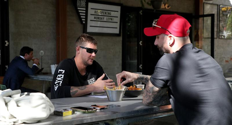 Customers are seen at The Globe Pub and Beer Garden in Perth CBD in March. Source: AAP