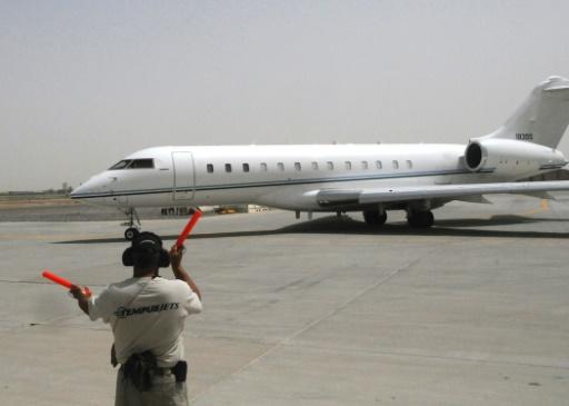 This US Air Force file photo dated May 25, 2012 and obtained January 27, 2020 shows a Bombardier E-11A -- one of these aircraft crashed in eastern Afghanistan in as-yet undetermined circumstances