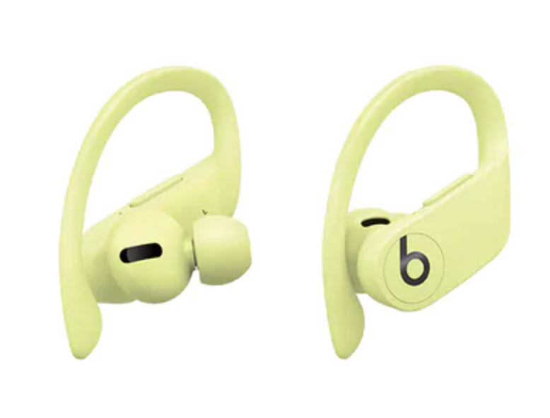 Powerbeats Pro Totally Wireless Earphones in Spring Yellow (Photo via The Source)