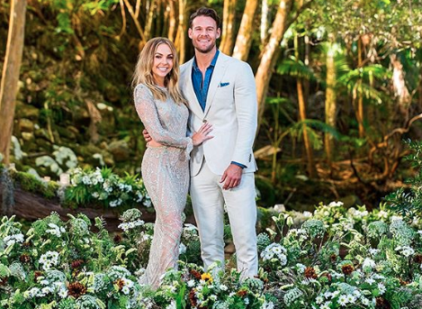 Angie Kent and Carlin Sterritt in the finale of The Bachelorette 2019