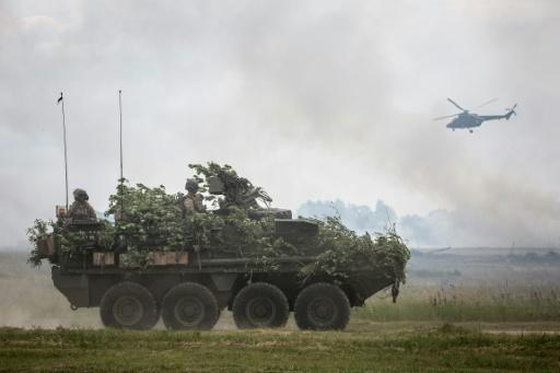 NATO troops during Saber Strike military exercises  in Poland last year