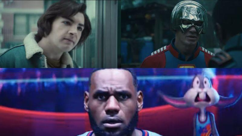 (Clockwise) The Many Saints Of Newark, The Suicide Squad, Space Jam 2
