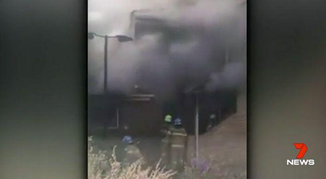 The fire took about 20 minutes to get under control. Photo: 7 News