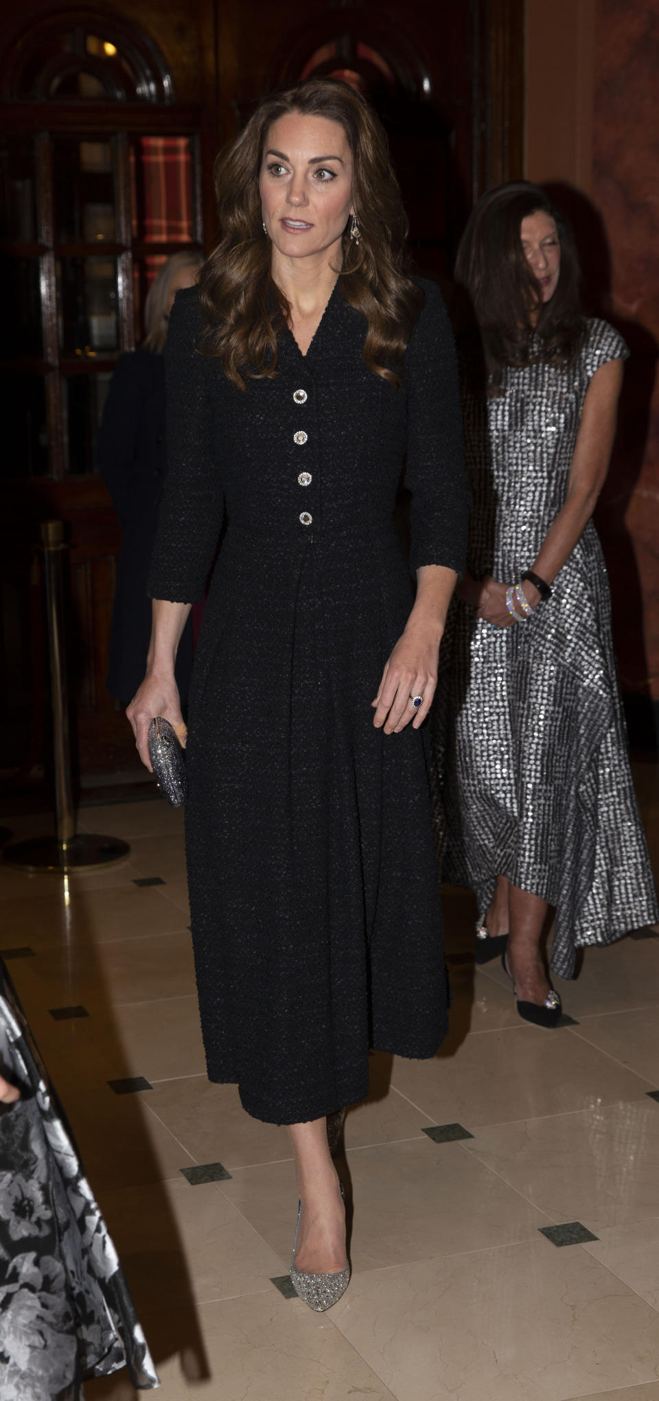 The Duchess of Cambridge attends a special performance of Dear Evan Hansen, at the Noel Coward Theatre in London.