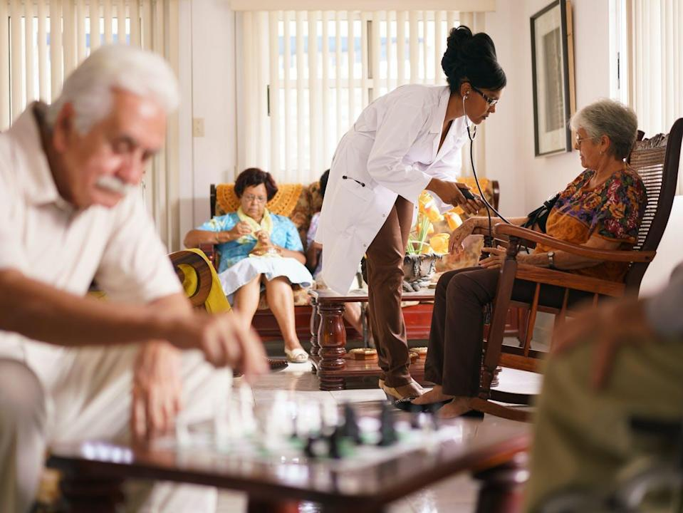 """<span class=""""caption"""">Reducing sedentary behaviour in assisted living could improve health and independence for long-term care residents.</span> <span class=""""attribution""""><span class=""""source"""">(Shutterstock)</span></span>"""