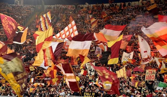 <p>Soccer Football – Champions League Semi Final Second Leg – AS Roma v Liverpool – Stadio Olimpico, Rome, Italy – May 2, 2018 Roma fans REUTERS/Alberto Lingria </p>