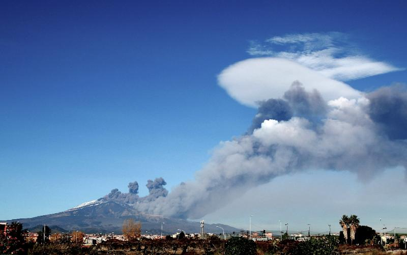 Air traffic was restricted over Catania (AFP Photo/GIOVANNI ISOLINO)