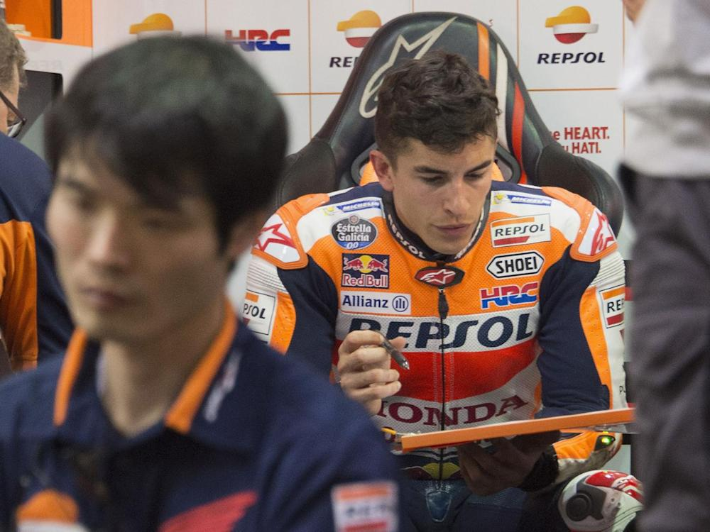Marquez is bidding to win a fourth MotoGP world championship this year (Getty)