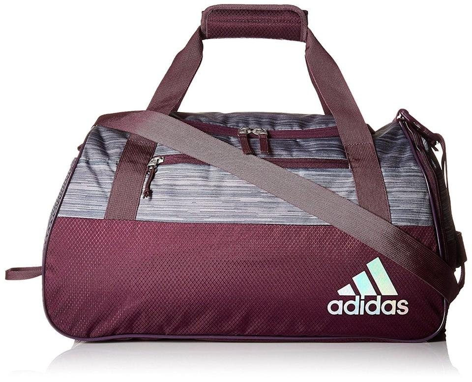 <p>This <span>Adidas Squad III Duffel Bag</span> (42) was seriously built to last with its lifetime warranty. Its ventilated outside compartment keeps your shoes and clothes separated, while a mesh pocket on the other end conveniently holds your water bottle.</p>