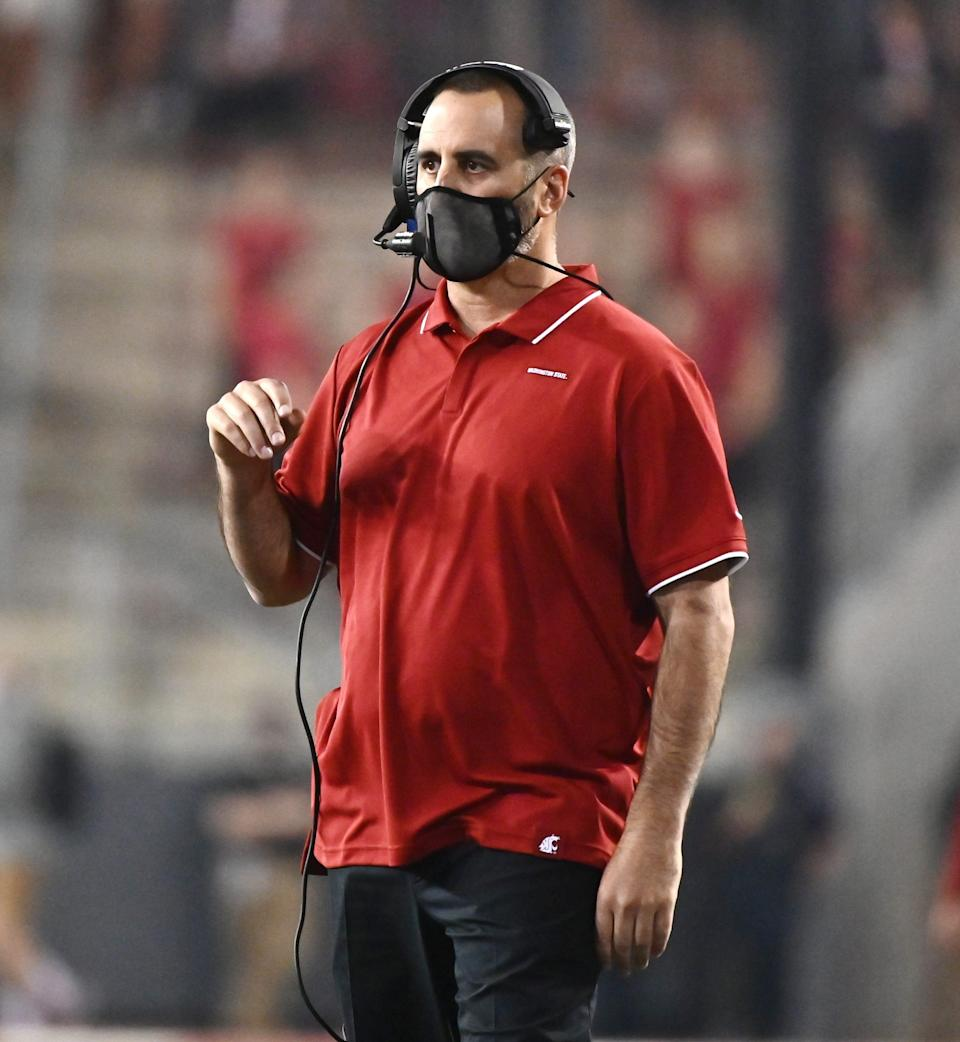 Washington State coach Nick Rolovich is seeking a religious exemption from the state's COVID-19 vaccine mandates.