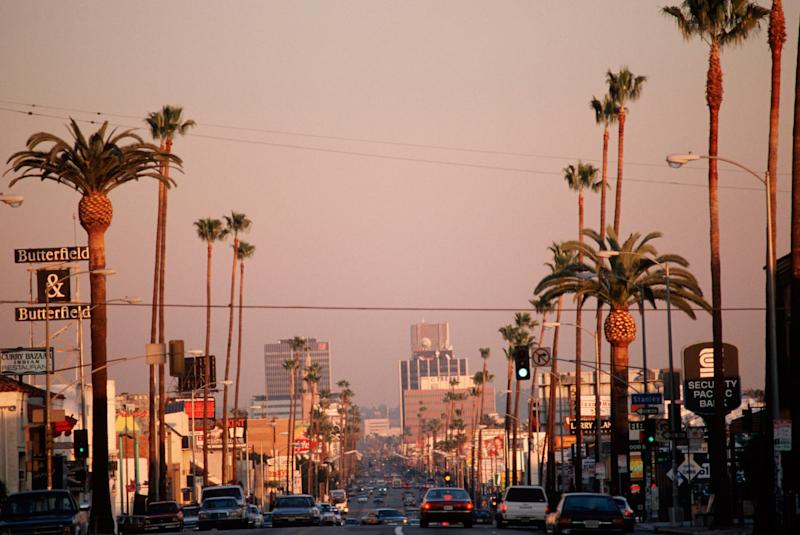 A drive down Sunset Boulevard will show you all sides of LA - Credit: Alamy