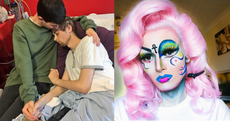 Dean Eastmond was able to check one thing off his bucket list when a drag queen did his bedside glam.
