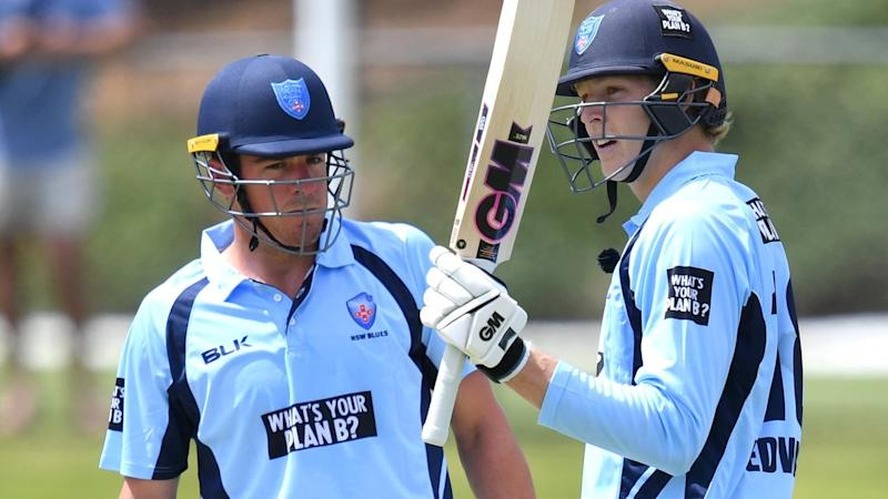 NSW's Moises Henriques (l) and Jack Edwards both scored One Day Cup half centuries against Qld