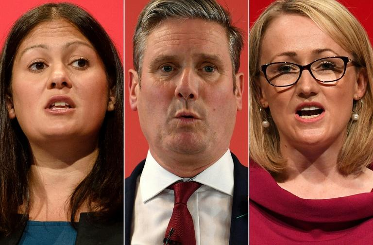 The three Labour leadership candidates (L-R) Lisa Nandy, Keir Starmer and Rebecca Long-Bailey