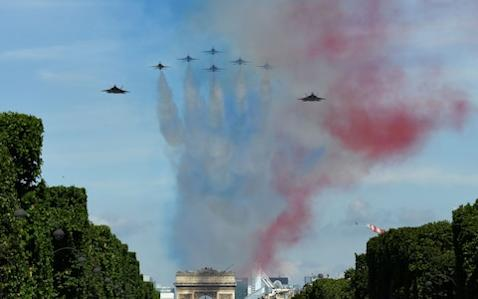 """French warplanes and helicopters may be battling jihadists in the deserts of Africa and the Middle East, but the French Air Force on the whole is in a disastrous state, with 56 per cent of all its aircraft unfit to fly at any given moment, according to a senior minister. """"If I compare the current situation … of our planes with a car, it is as if I wanted to have a car every morning that works, I would have to own four cars,"""" Florence Parly, the armed forces minister, said during a visit to an air base in Evreux in Normandy. She made the remark in a scathing speech about the state of the French fleet, where aircraft availability has gone from bad to worse despite a 25 per cent boost to the maintenance budget over the past five years that brought the total to €4 billion (£3.5 billion) in 2017. Ms Parly went to Evreux last week to announce wide-ranging plans to cut soaring costs and free up more aircraft by streamlining the current maintenance programme, which is so complex that it can take 30 different contracts to get a helicopter repaired. Britain's Royal Air Force, whose aircraft have been in constant use for many years in Afghanistan and Iraq, was criticised earlier this year when it was revealed that on average one in three of its multi-role Typhoon fighters and Tornado combat jets was unfit to fly. F22 and F16 Thunderbirds of US Air Force, fly over Paris during the annual Bastille Day military parade on the Champs-Elysees avenue in Paris Credit: AFP Overall figures for the air readiness of the RAF fleet are not publicly available, but the figures for its fighter jets suggest that it is in far better shape than its French counterpart. Eighty per cent of the French fleet is operational in the battle zones of west Africa, Iraq and the Middle East, according to official figures, but in bases in France the figure plummets to 30 per cent. The overall figure for aircraft ready to fly is now 44 per cent, down from 55 per cent in 2000. On average, just one Caracal - a lo"""