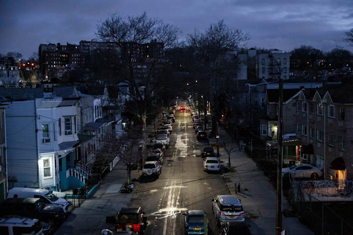Early morning twilight over Brooklyn on March 24. Mayor DeBlasio declared a state of emergency in New York City last week, and large gatherings have been banned, and all nonessential businesses across the state have been ordered to close. | Sarah Blesener
