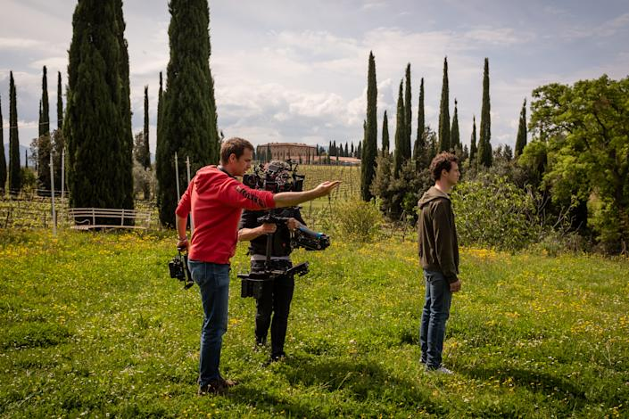 "<div class=""caption""> The Tuscan landscape called to mind the film <em>Cinema Paradiso</em>, says Herbert. ""That sticks in my head because it is the story of a boy with an emotional connection to Italy."" </div> <cite class=""credit"">Photo: Antonello</cite>"