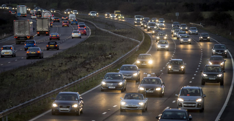 <strong>Drivers told to avoid travelling on these days over Christmas as 1.25 million cars expected on UK roads.</strong> (PA Archive/PA Images)