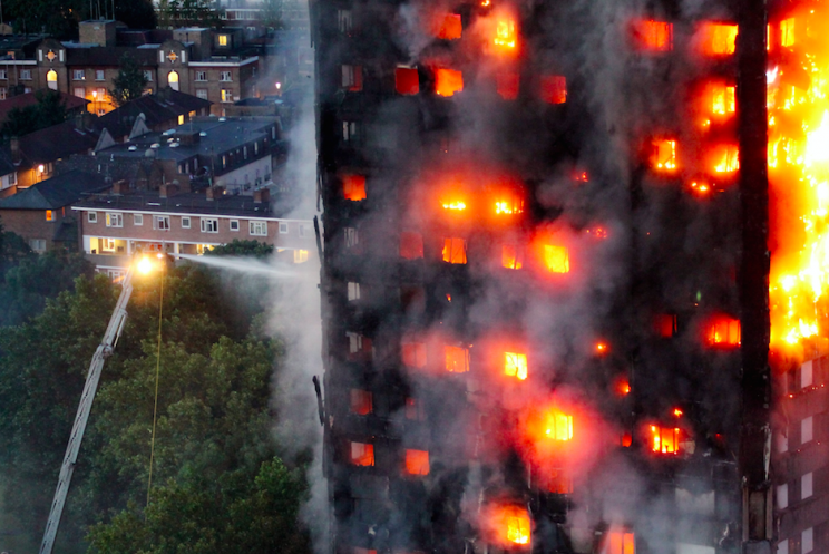 The Grenfell Tower went on fire on Wednesday morning (Picture: Rex)