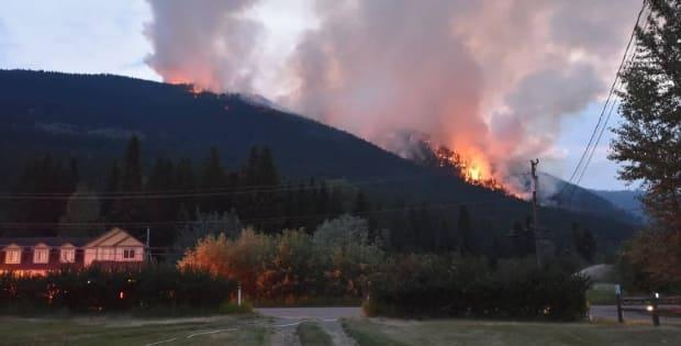 The Embleton Mountain wildfire was discovered on July 8. The cause of the fire is still under investigation. (Adrienne Clay/Submitted - image credit)