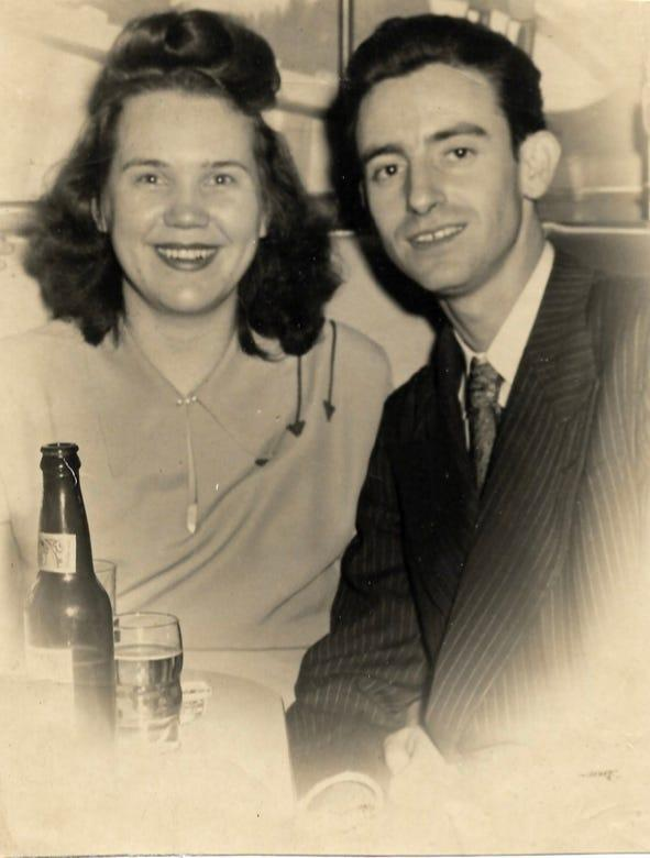Alice and John Lawson in a photo taken in 1948. Lawson, originally from Belgium, met her husband during World War II in Belgium where both were in the medical field.During the war Lawson and her family helped hide Jewish people from the Nazi's saving dozens from going to concentration camps.She married her husband a few days after VE Day in May of 1945.