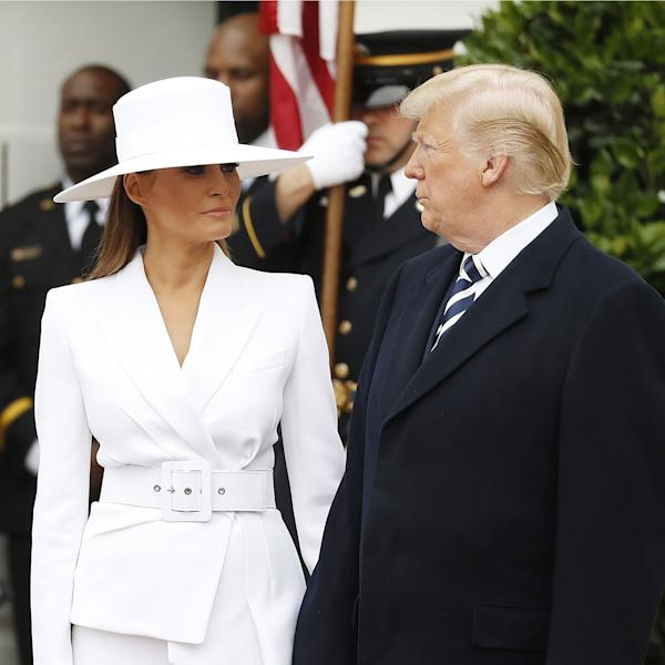 On the heels of an awkward hand-holding moment with President Trump, First Lady Melania's French manicure is thrust into the spotlight.