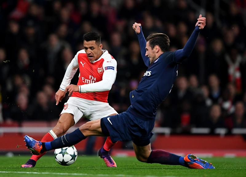 Alexis Sanchez played against PSG twice in the Champions League this season