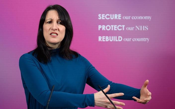 """Rachel Reeves, Labour's shadow chancellor, accused the Tories of a """"cover-up"""" - GETTY IMAGES"""
