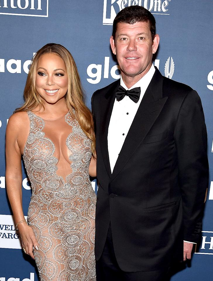"""<p>She had a """"Vision of Love,"""" but what the singer ended up with is a couple of divorces and, more recently, a nasty breakup with billionaire fiancé James Packer. The diva has made no secret of her new fling with backup dancer Bryan Tanaka, either. We would think she's taking a page from J.Lo's playbook, but, of course, Mariah isn't familiar with her. (Photo: Dimitrios Kambouris/Getty Images for GLAAD) </p>"""