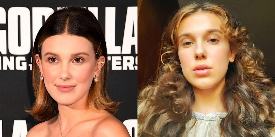 "<p>Say bye to Eleven and hello to Enola. Millie Bobby Brown just traded in her short, cute bob for some long and curly locks. The hairstyle is a complete switch from the <em>Stranger Things</em> look we've gotten used to.</p><p>Millie revealed the new do on Instagram, but you can catch more of it in her new movie, <a href=""https://www.seventeen.com/celebrity/movies-tv/a28495138/millie-bobby-brown-movie-enola-holmes/"" rel=""nofollow noopener"" target=""_blank"" data-ylk=""slk:Enola Holmes"" class=""link rapid-noclick-resp""><em>Enola Holmes</em></a>, where she'll be playing the mystery-solving younger sister of Sherlock and Mycroft Holmes. But the movie just started filming, so it probably won't be out for a while sadly.</p>"
