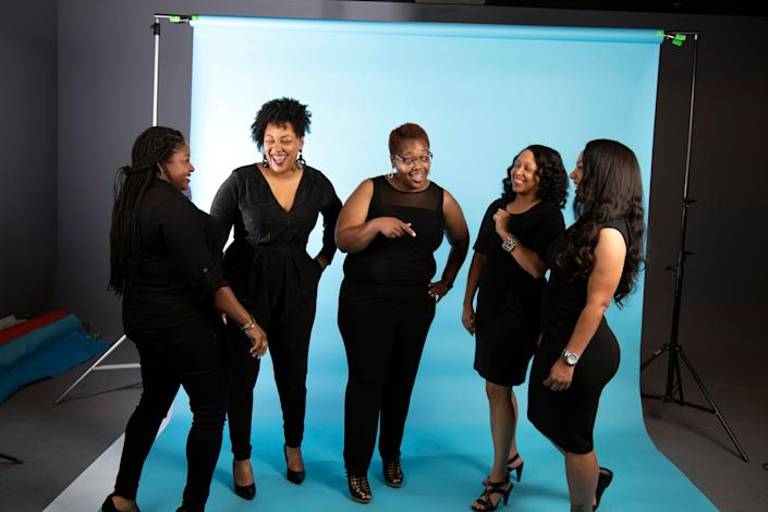 The Women, from left, Kanika White, Deidra Harper, Tanika Harper, Dasha Lundy, and Angela Dennis on Sunday, June 28, 2020.
