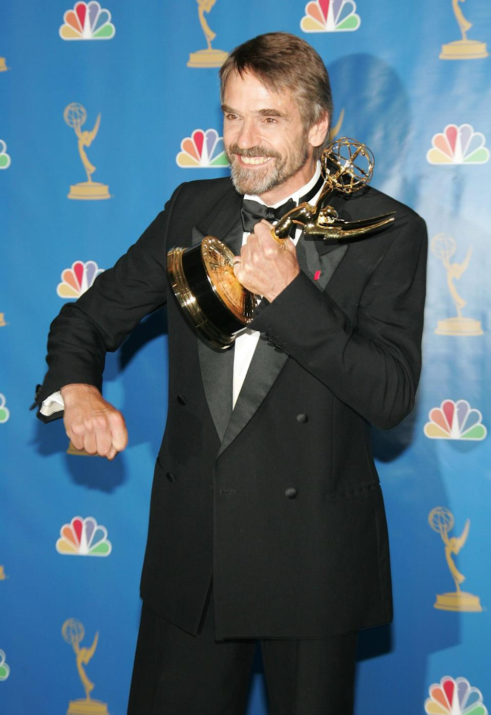 <ul> <li><strong>Has:</strong> An Oscar for <strong>Reversal of Fortune</strong>, two Emmys for <strong>Elizabeth I</strong> and <strong>The Great War and Shaping of the 20th Century</strong>, and a Tony for <strong>The Real Thing</strong></li> <li><strong>Needs:</strong> A Grammy </li> </ul>
