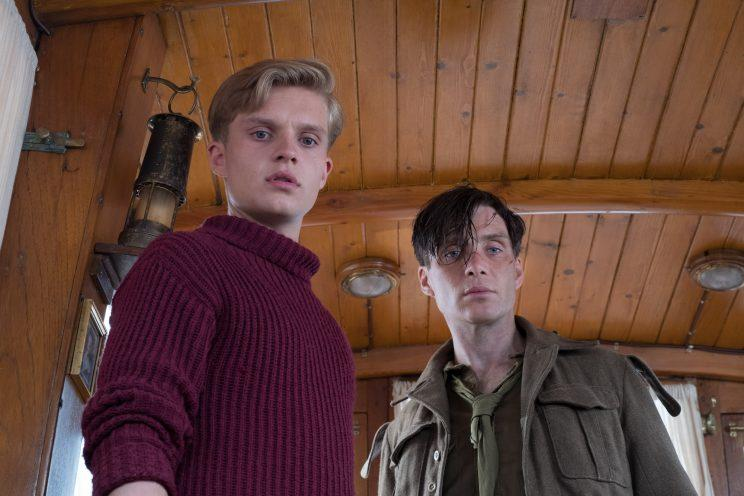 Tom Glynn-Carney as Peter and Cillian Murphy as the Shivering Soldier in