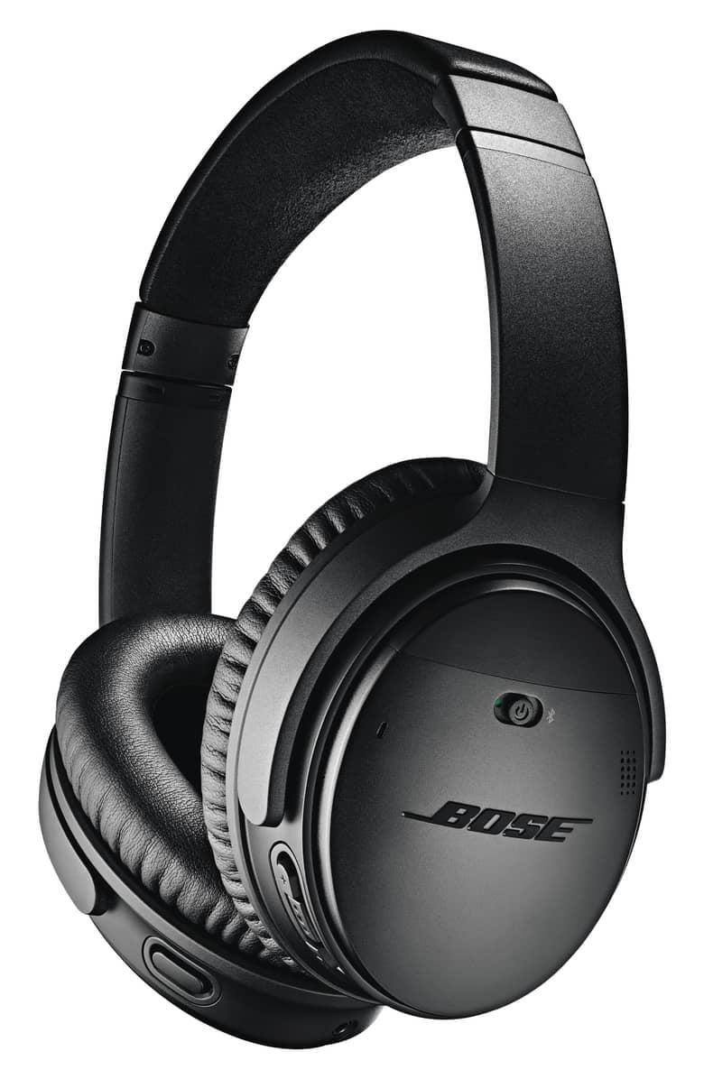 <p>They can listen to podcasts, music, and more on these <span>Bose QuietComfort 35 Wireless Headphones II</span> ($299). The bestselling headphones are comfy and great for traveling, too.</p>