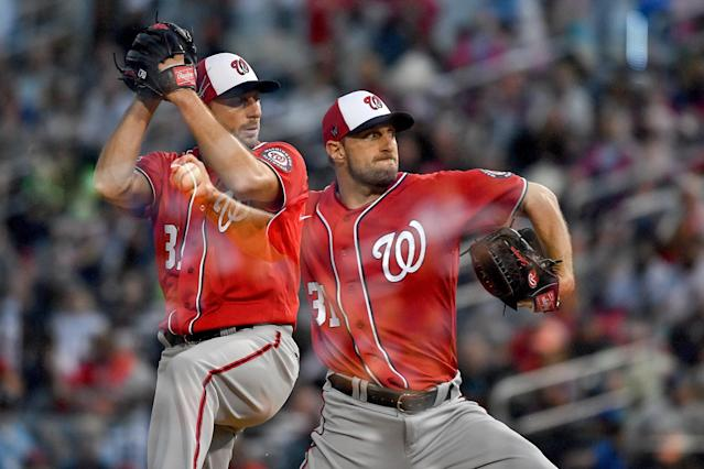 A defending champion for the first time in his esteemed career, Washington Nationals star Max Scherzer will turn 36 this year with his legacy as a generational ace already secure. (Photo by Mark Brown/Getty Images)