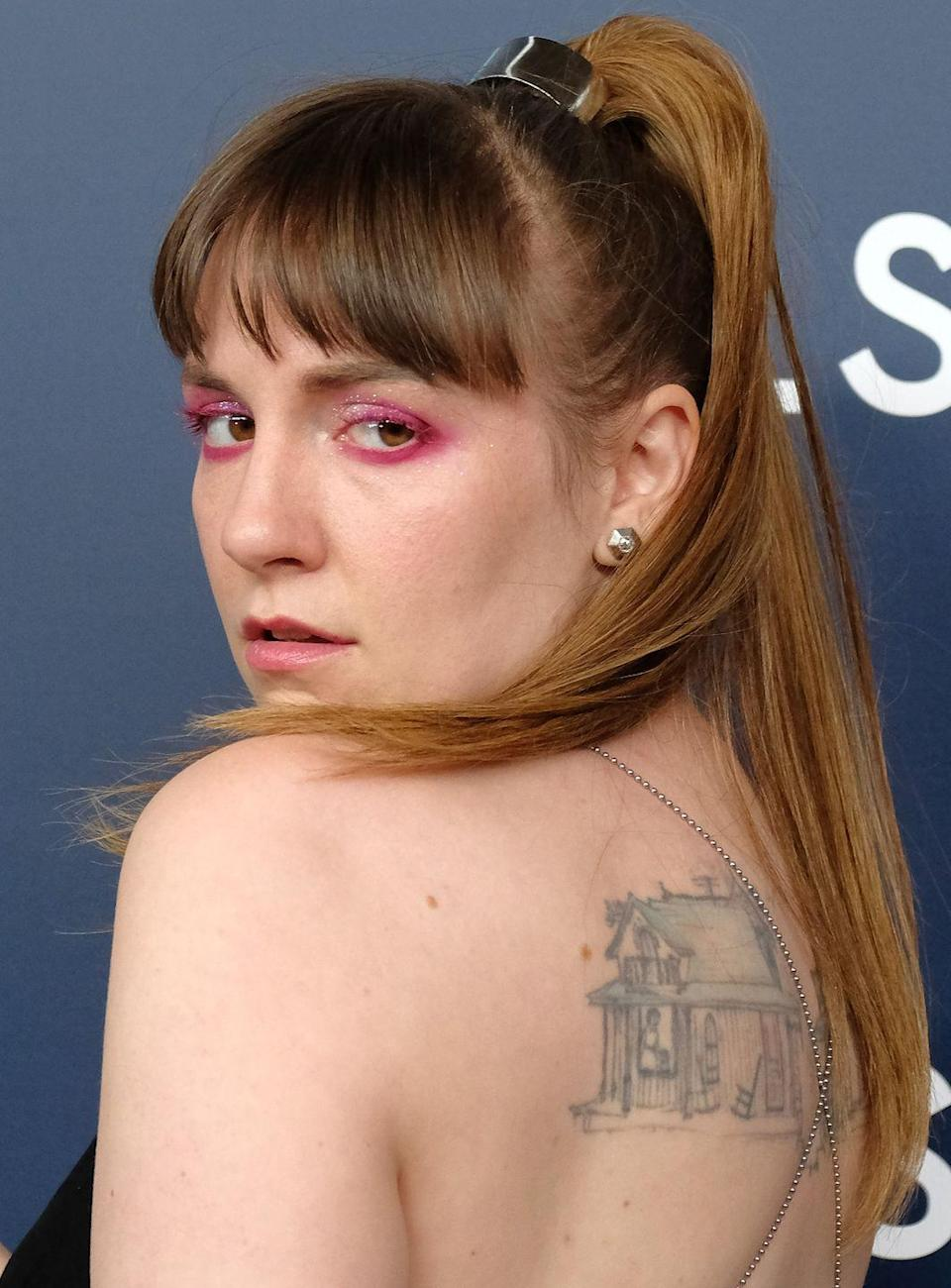 <p>Lena Dunham has been sporting a pixie crop of sorts for the last year or so. So it was a surprise to everyone when she debuted long ombre locks on her Instagram. She seems to have foregone the ombre part now, but has kept the fringe. It's certainly an edgier look for the star. </p>