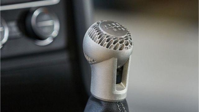 Gear knob produced using new 3D printing process