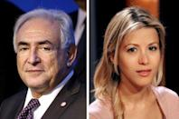 A combination of two images shows (L) former International Monetary Fund (IMF) Managing Director Dominique Strauss-Kahn and (R) French journalist and writer Tristane Banon