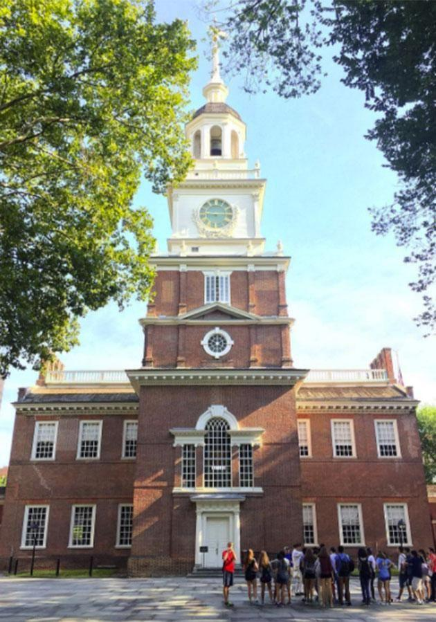 Independence Hall - the birth place of the US. Photo: Discover Philly Instagram