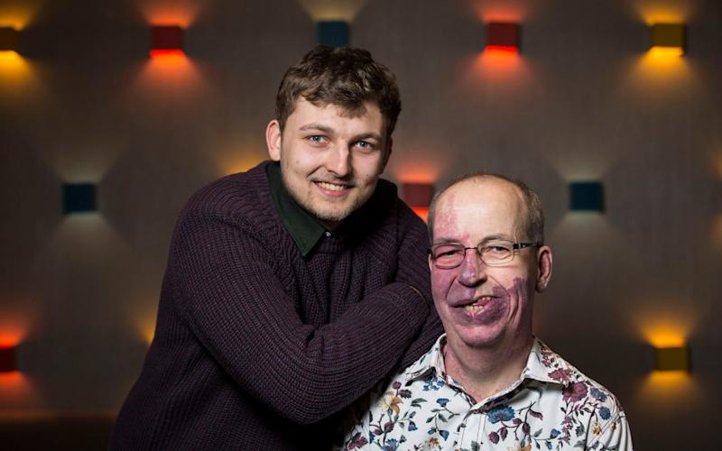 Feeling proud: Phil Gorf (right) and his son Sam - Jeff Gilbert/The Telegraph