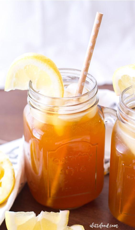 """<p>You'll be making this refreshing summer drink on repeat.</p><p>Get the recipe from <a rel=""""nofollow"""" href=""""http://www.alattefood.com/apricot-lemon-iced-tea/"""">A Latte Food</a>.</p>"""