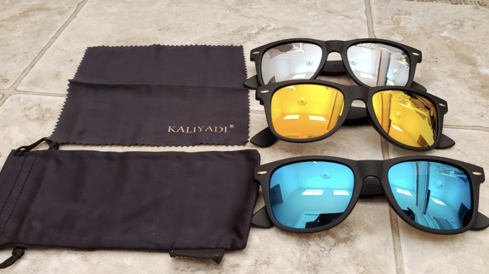 Kaliyadi's sunglasses are available in a pack of three for $30 (Image via Amazon/Photo provided by customer)