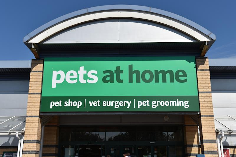 A general view of a Pets at Home pet shop, vet surgery and pet grooming retail outlet store. Photo: John Keeble/Getty Images