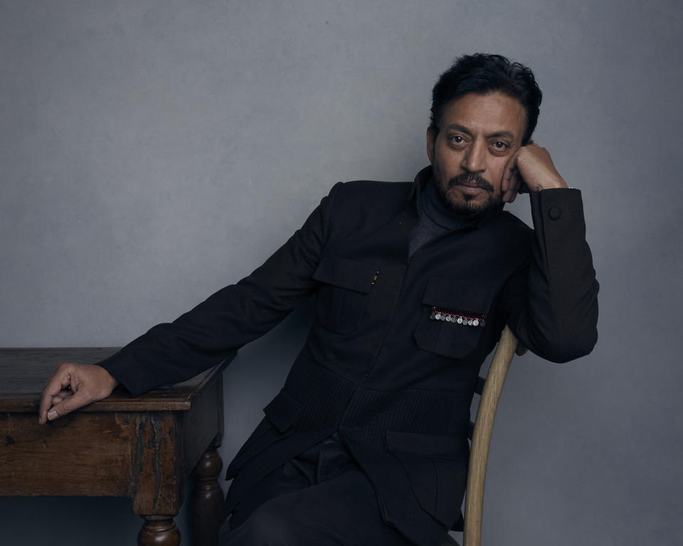 "Irrfan Khan poses for a portrait to promote the film ""Puzzle"" at the Music Lodge during the Sundance Film Festival on Monday, Jan. 22, 2018, in Park City, Utah. (Photo by Taylor Jewell/Invision/AP)"